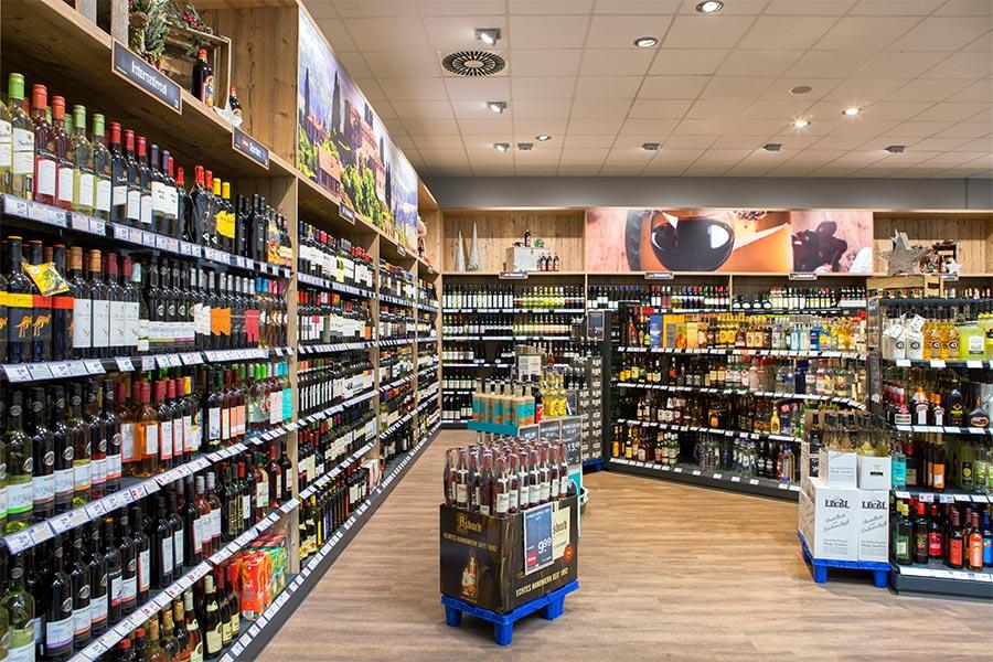 Wein bei EDEKA in Arnstorf